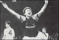 Ian Britton after scoring