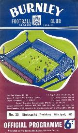 Burnley v Eintracht 1967